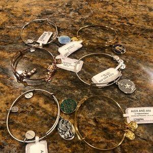 Bundle of Alex and Ani bracelets